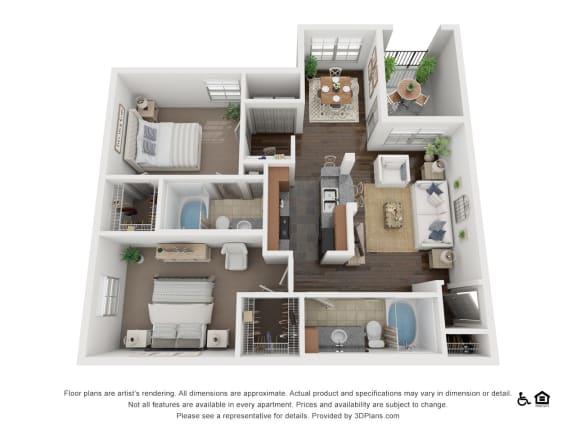 Floor Plan  at Villas at Stone Oak Ranch, Texas, 78727