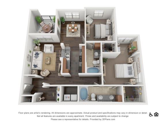 Floor Plan  at Villas at Stone Oak Ranch, Austin, Texas