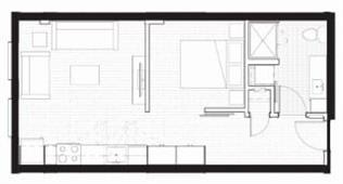 Floor Plan  A2 - Furnished