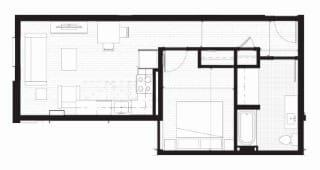 Floor Plan  B - TYPE A - Furnished