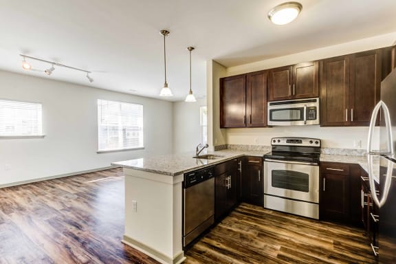 new kitchen and floors at woodview legacy farms