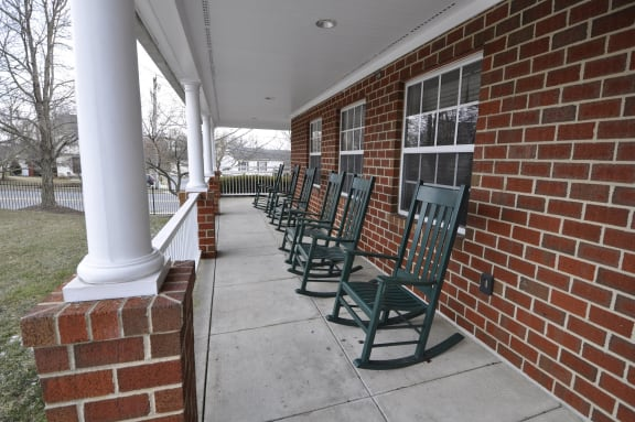Park View at Woodlawn Covered Porch with Rockers