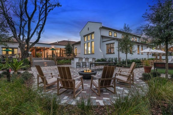 Outdoor Patio Area at Hudson at East, Florida, 32828