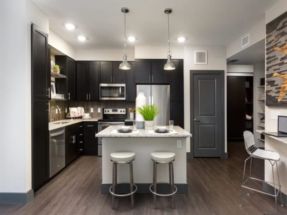 Modern Kitchen With White Cabinet at Broadstone Montane, Parker, Colorado