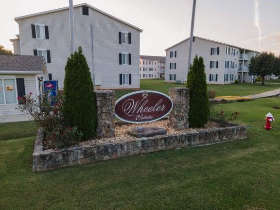 Sign Wheeler Estates Apartments 134 McEntire Lane, Decatur, AL 35603