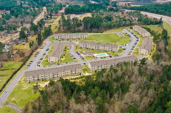 Benson Aerial Benson Estates Apartments 203 Williamsburg Dr., AUGUSTA, GA 30815