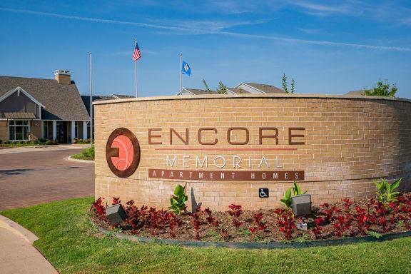 Encore Memorial Monument Sign