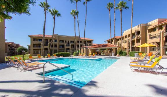Pool & Pool Patio at Zona Rio Apartments in Tucson, AZ