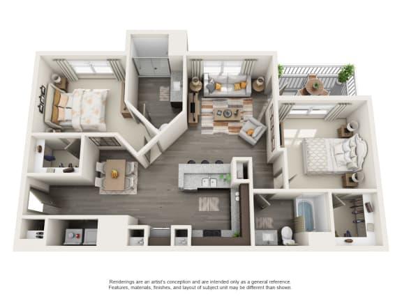 Floor Plan  B1 2B2B