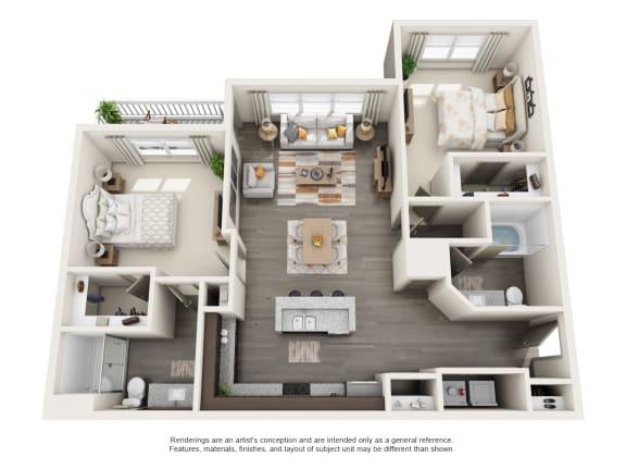 Floor Plan  B2 2B2B