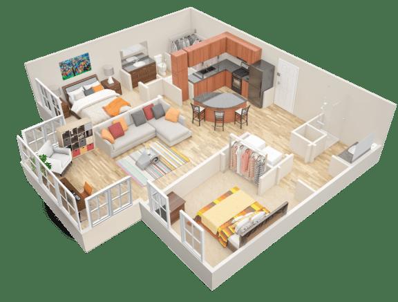 Floor Plan  B3 Sunroom