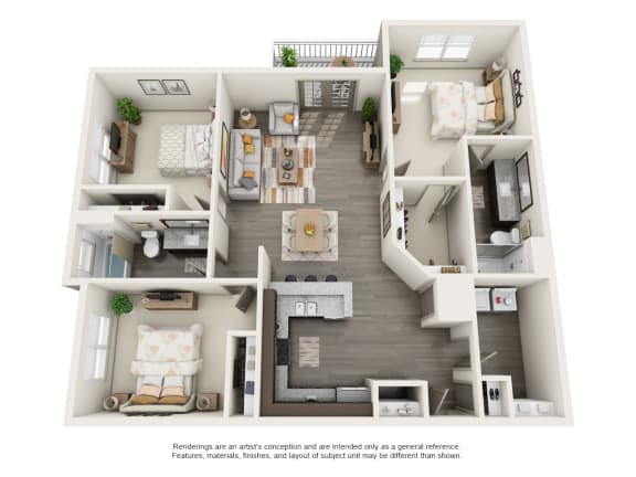 Floor Plan  C1 3B2B