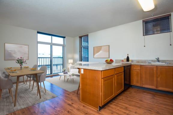 20 Pettygrove | Kitchen Open to Living Room