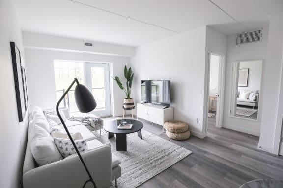 Living Room at 30 University Crescent, Winnipeg, MB.