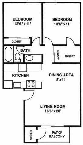 Floor Plan  B1 floorplan, Villetta, Mesa, AZ