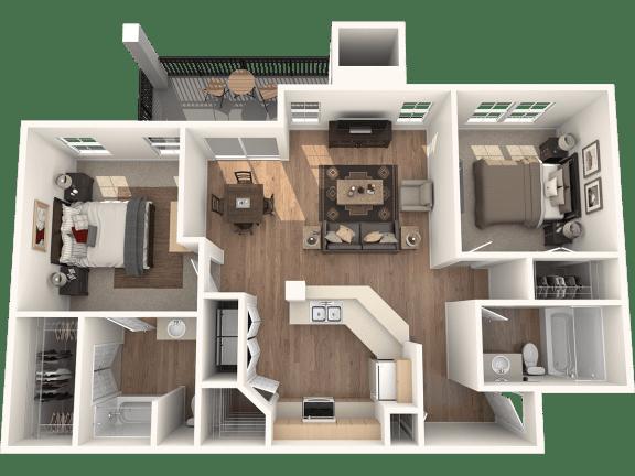 Floor Plan  Durango Deluxe Floor Plan | Sedona Springs