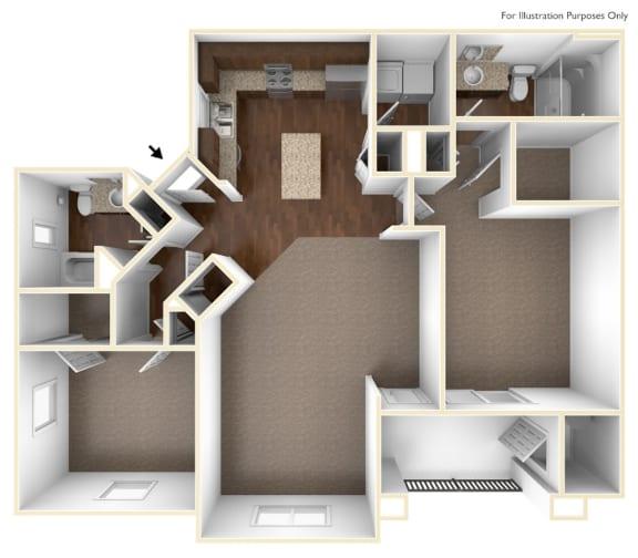 Floor Plan  Mellizo Floor Plan | Villas at San Dorado
