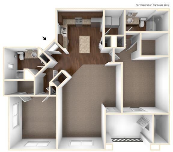Floor Plan  Flor Floor Plan   Villas at San Dorado