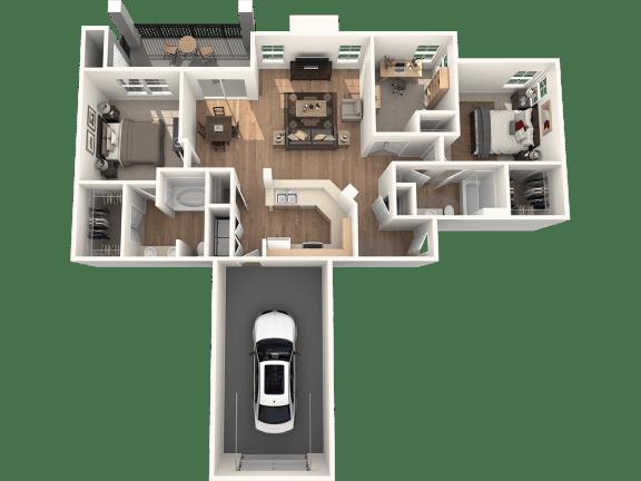 Floor Plan  Villa Floor Plan | Sedona Springs