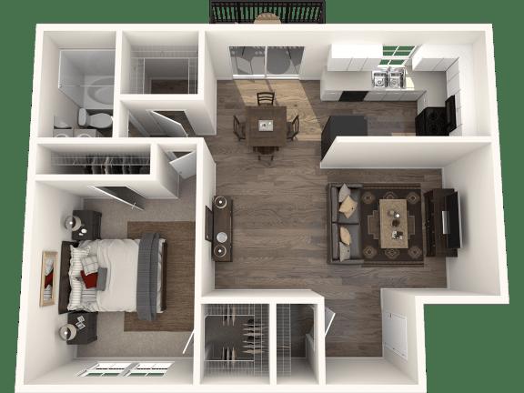 Floor Plan  1X1G Floor Plan   Randolph Park