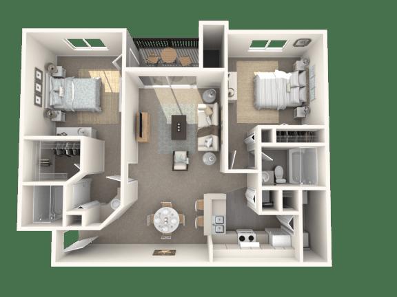 Floor Plan  2 x 2 floor plan   Cypress Shores