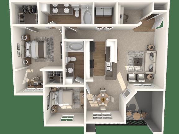 Floor Plan  Ridgeline Classic Floor Plan | Lodge at Lakeline Village