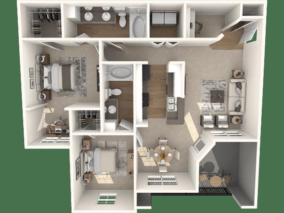 Floor Plan  Dayflower Classic Floor Plan | Lodge at Lakeline Village