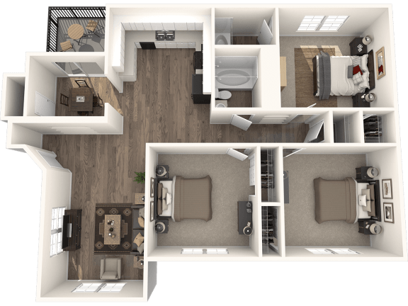 Floor Plan  3X2GD Floor Plan   Randolph Park