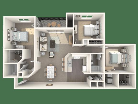 Floor Plan  3 x 2 floor plan | Cypress Shores