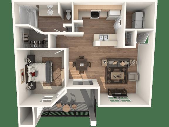 Floor Plan  Pueblo Deluxe Floor Plan | Sedona Springs