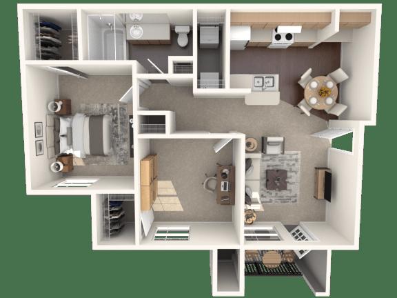 Floor Plan  B1 | Monterey Ranch