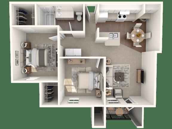 Floor Plan  B2   Monterey Ranch