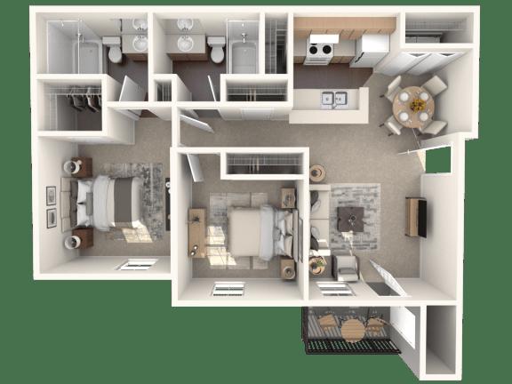 Floor Plan  B3   Monterey Ranch