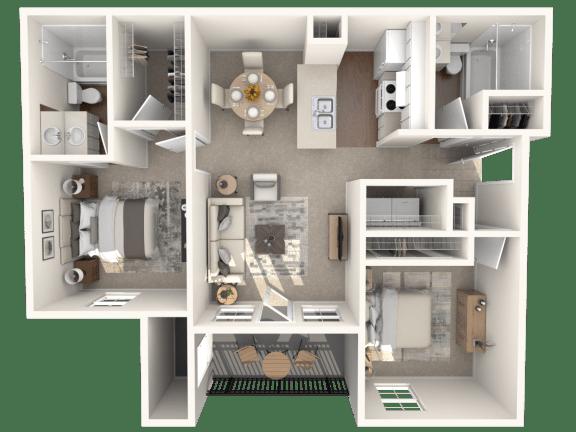Floor Plan  R2D | Monterey Ranch