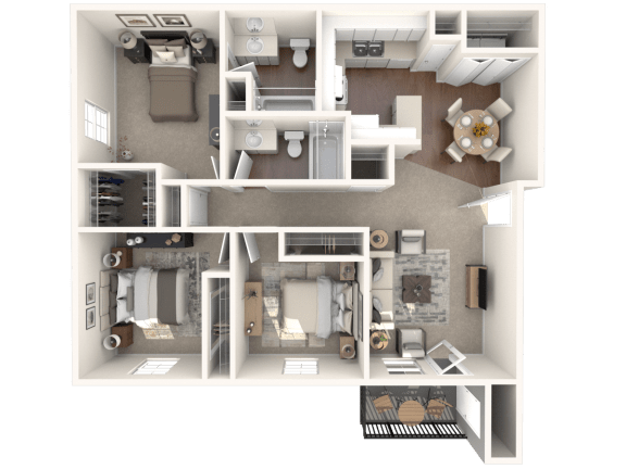 Floor Plan  C1 | Monterey Ranch