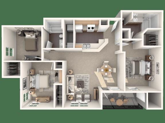 Floor Plan  C2   Monterey Ranch