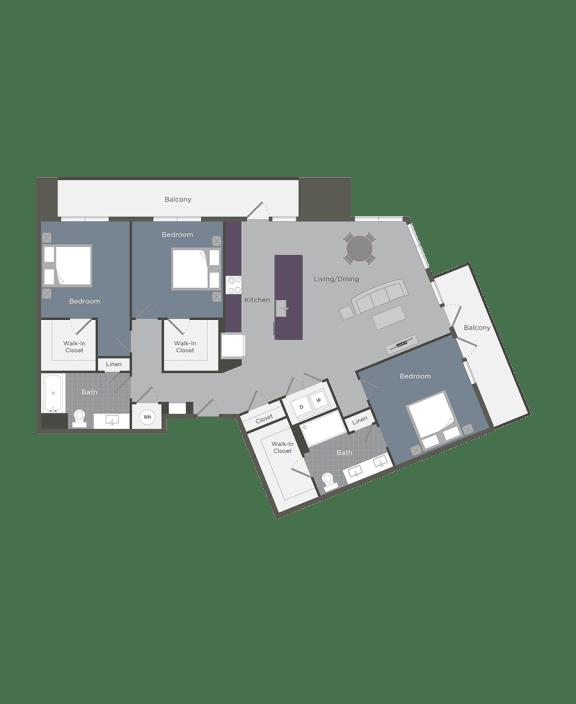 Floor Plan  The Piedmont | Glenn Perimeter