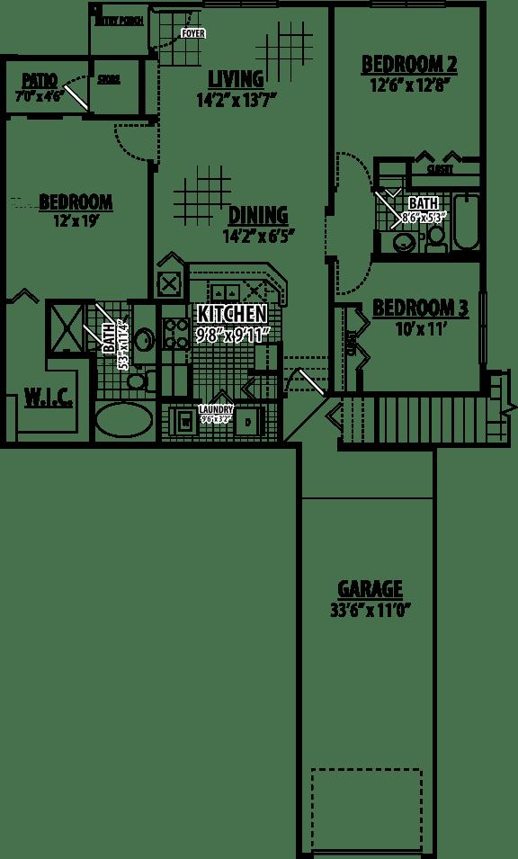 Arabian Floor Plan | Estates at Heathbrook