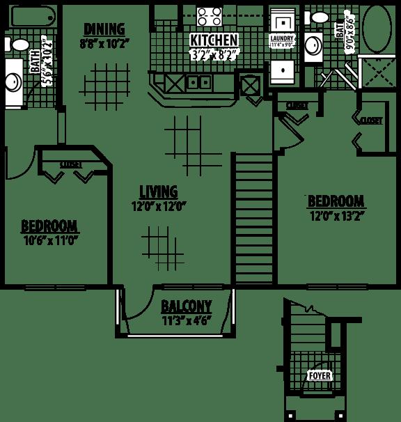 Radford Floor Plan   Estates at Heathbrook