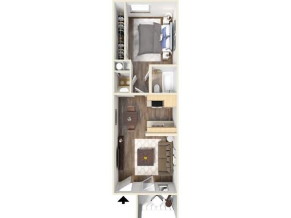 Floor Plan  1B Floor Plan | Promontory