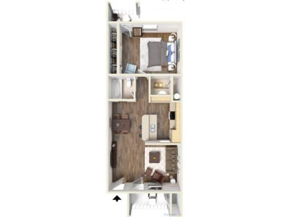 Floor Plan  1D Floor Plan | Promontory