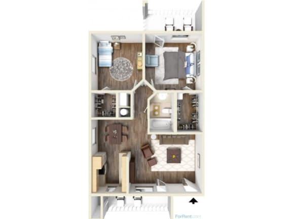 Floor Plan  2E Floor Plan | Promontory