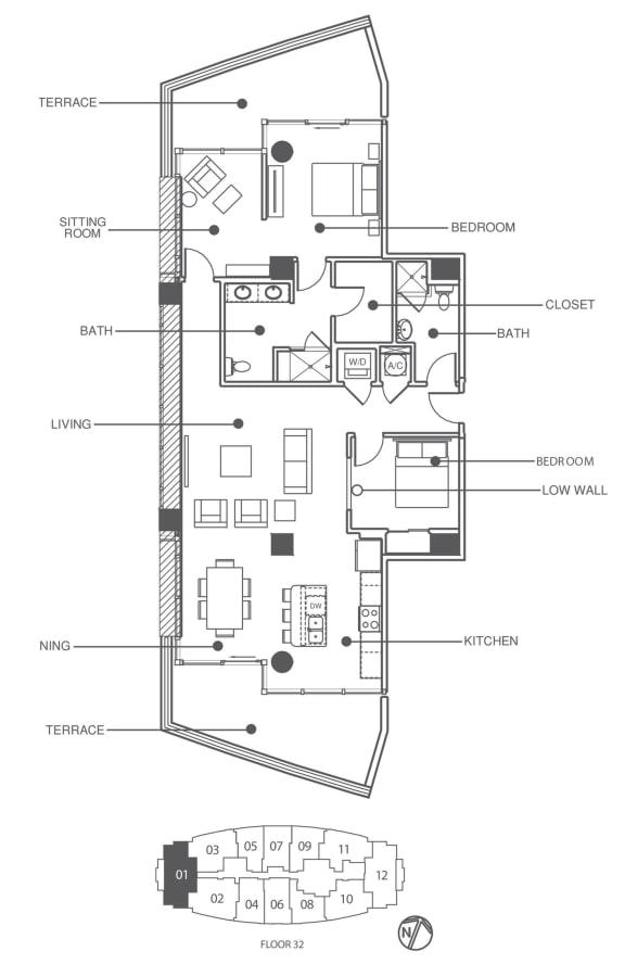 Floor Plan  Suite 3201   Element