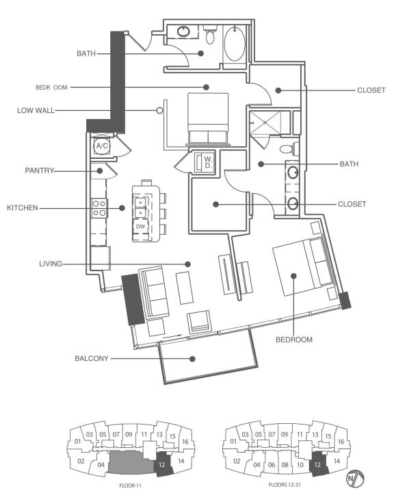 Floor Plan  Residence 12 | Element