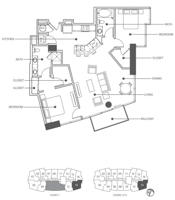 Floor Plan  Residence 14 | Element