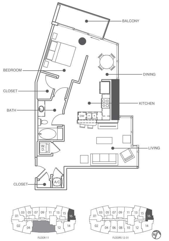 Floor Plan  Residence 16 | Element