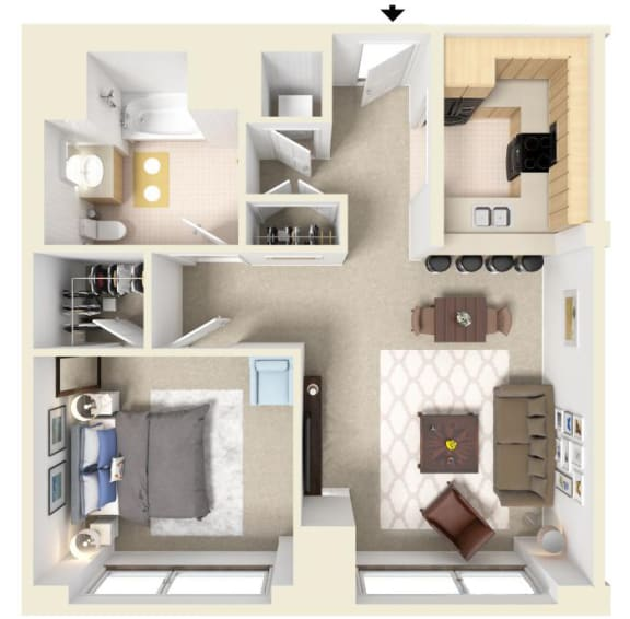 Floor Plan  The Currier   Residences at Manchester Place