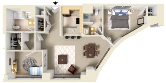 Floor Plan  The Elliot | Residences at Manchester Place
