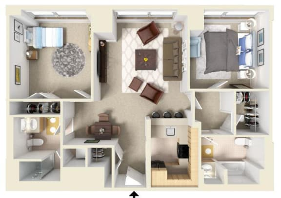 Floor Plan  The Merrimac   Residences at Manchester Place