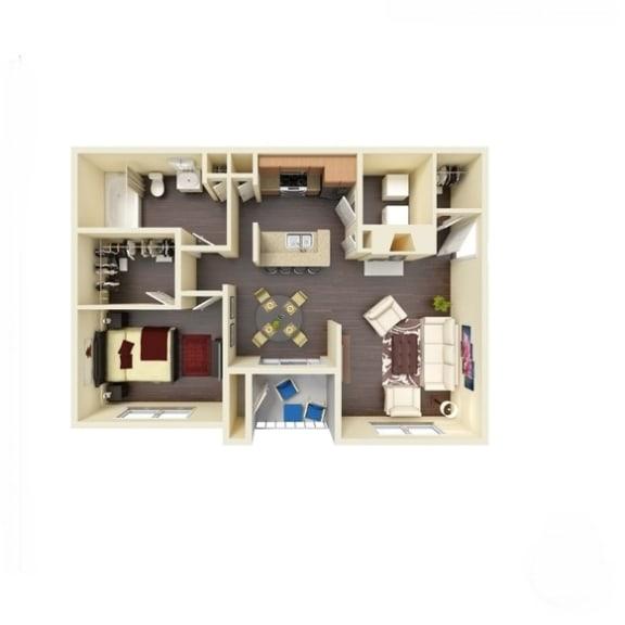 Floor Plan  1B_782 Floor Plan | River Stone Ranch